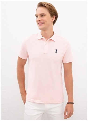 U.S. Polo Assn. U.S. Polo Assn. Pembe Erkek T-Shirt Pembe